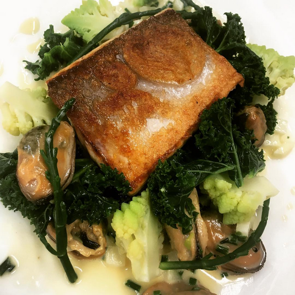 Salmon, smoked mussels, Apple, cider, roananesco (December).PNG