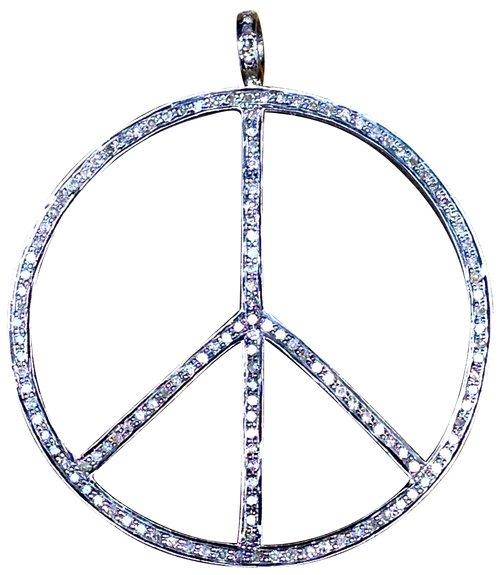 Diamond peace sign pendants s carter designs diamond peace sign pendants mozeypictures Image collections