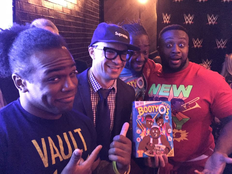 The New Day and I at our yearly  post-Wrestlemania party.