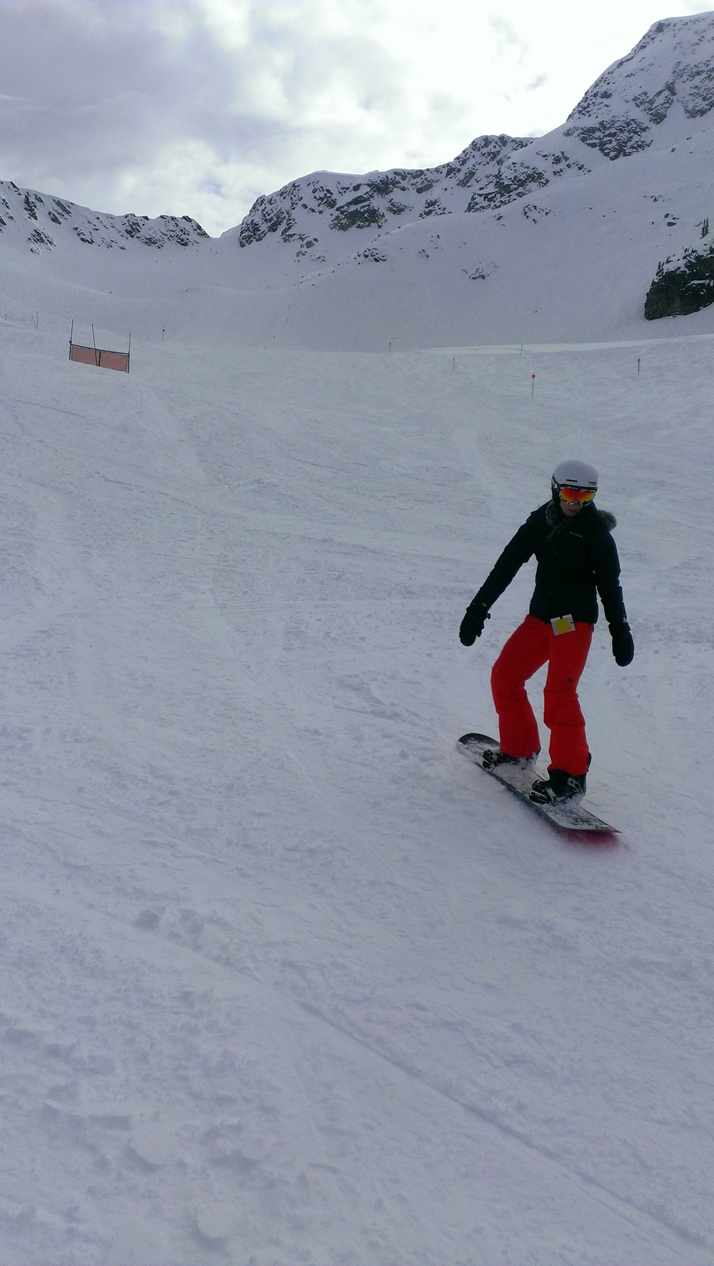 Emily carving down Whistler!