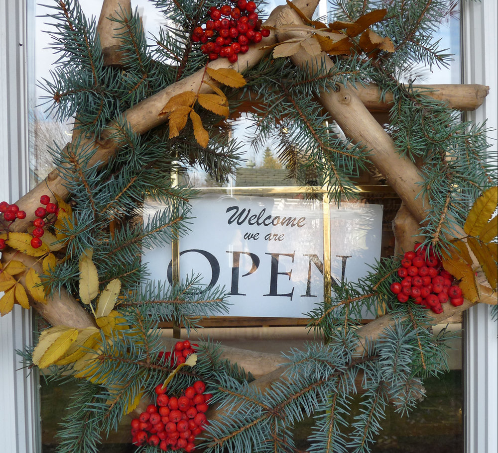 wreath on front door open.jpg