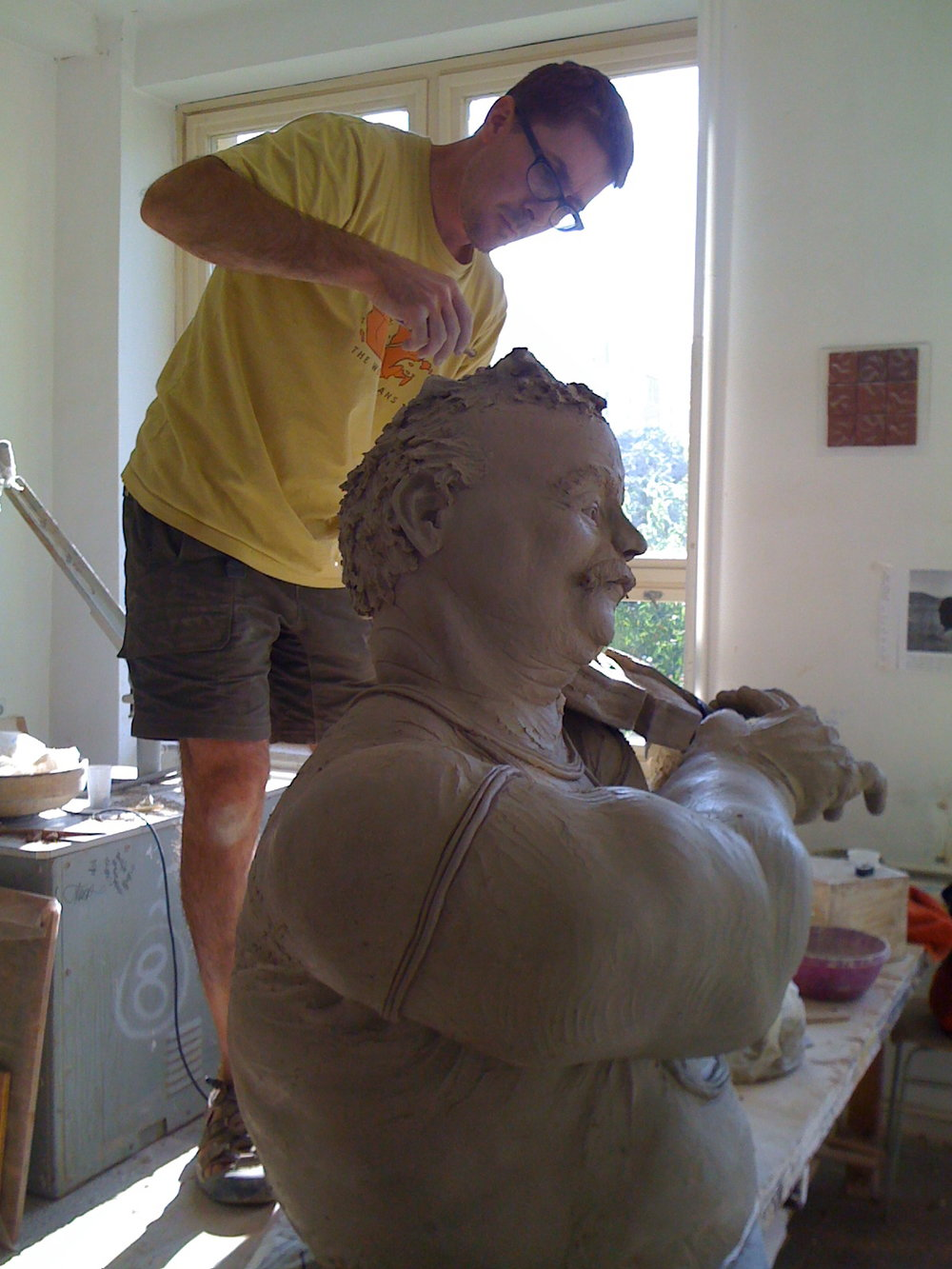 Brian working on Louise.jpg