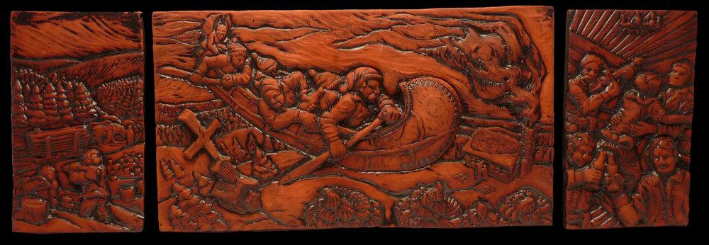 Devil Canoe, NCECA TIle Show, Mercer Award.jpg