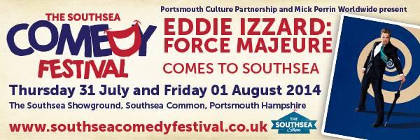 Eddie Izzard at the Southsea COmedy Festival 2014