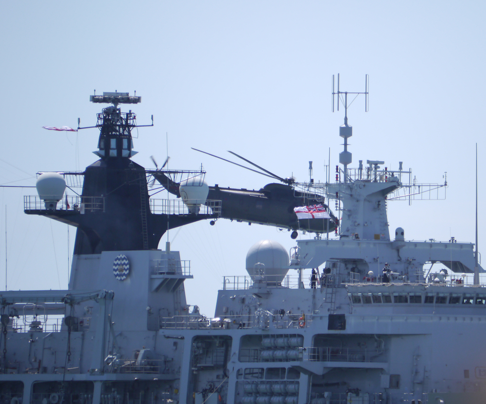 D-Day 70 Helicopter taking off from HMS Bulwark