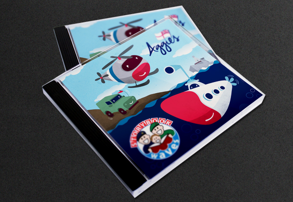 Storybook Waves illustrated CD cover