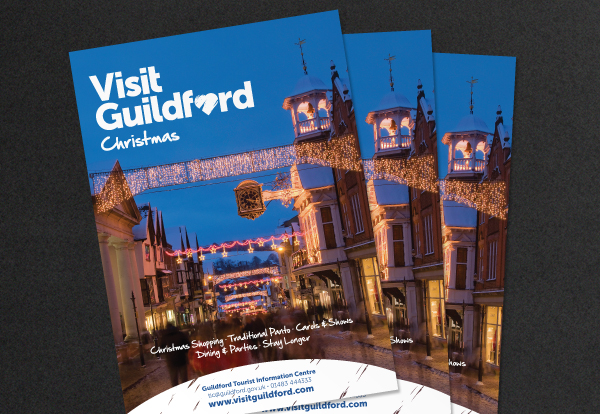 Visit Guildford Logo applied to advert