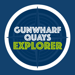 Become a Gunwharf Explorer...   Starfish was asked by Gunwharf Quays to create a fun map and accompanying stickers for their new children's Historic Trail.  Once they have collected their pack, children can explore the site and find the artefacts illustrated on the stickers. Once they are all placed correctly on the map this is then traded in for treasure!  Whilst the scheme is free, any donations to Gunwharf's local charity partner, Hampshire and Isle of Wight Air Ambulance would be much appreciated and we obviously had to add a helicopter into the illustration.