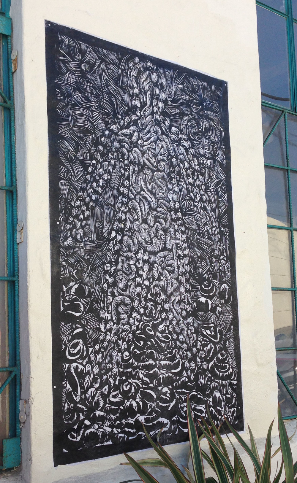 "Woodcut, 36"" x 48"", 2014"