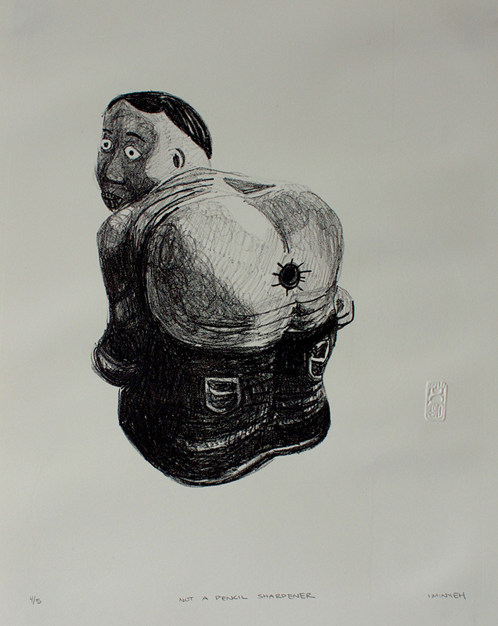 "Not a Pencil Sharpener Lithograph, 11"" x 14 2015"