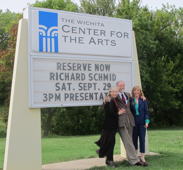 Richard Schmid, Kristen Thies and Nancy Guzik at the Schmid Exhibition at the Wichita Center for the Arts.  Sept 29, 2012.