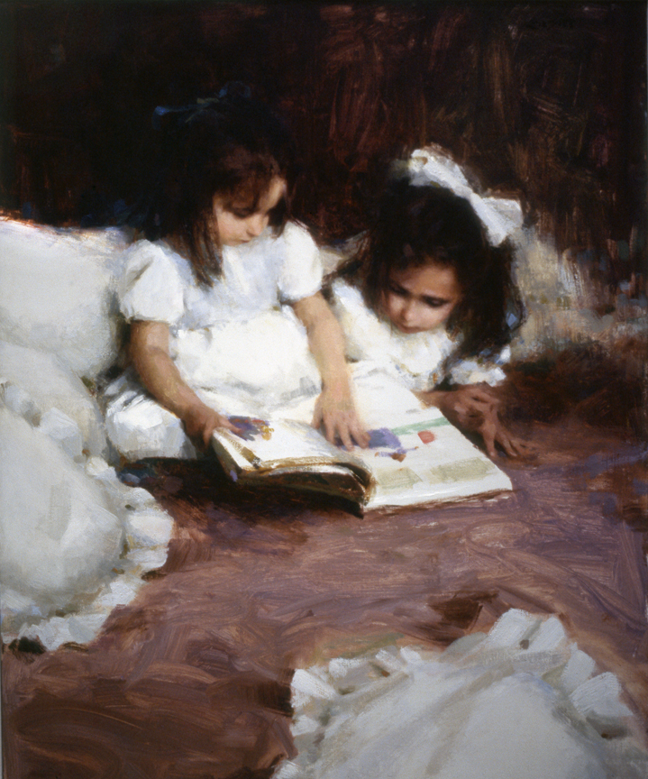"""WHITE DRESSES""     sold   30"" x 24""  oil  1992"