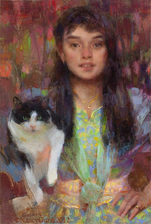 """MY FRIEND""     12x8   oil  2012   SOLD"