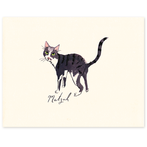 What your sister that only wants to talk about kittens for Christmas: a custom portrait of her one and only from  Danielle Kroll .