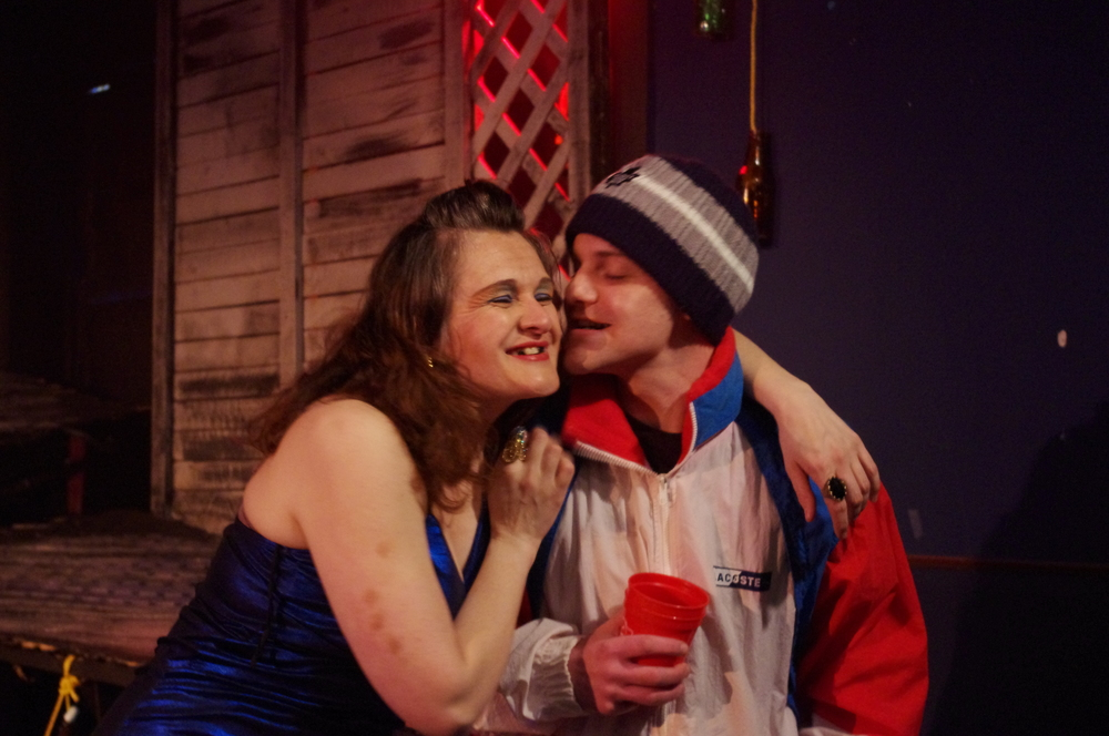 Deidre Gillard-Rowlings as Marilyn and Gregory King as Cuppy,  The Battery  2011.