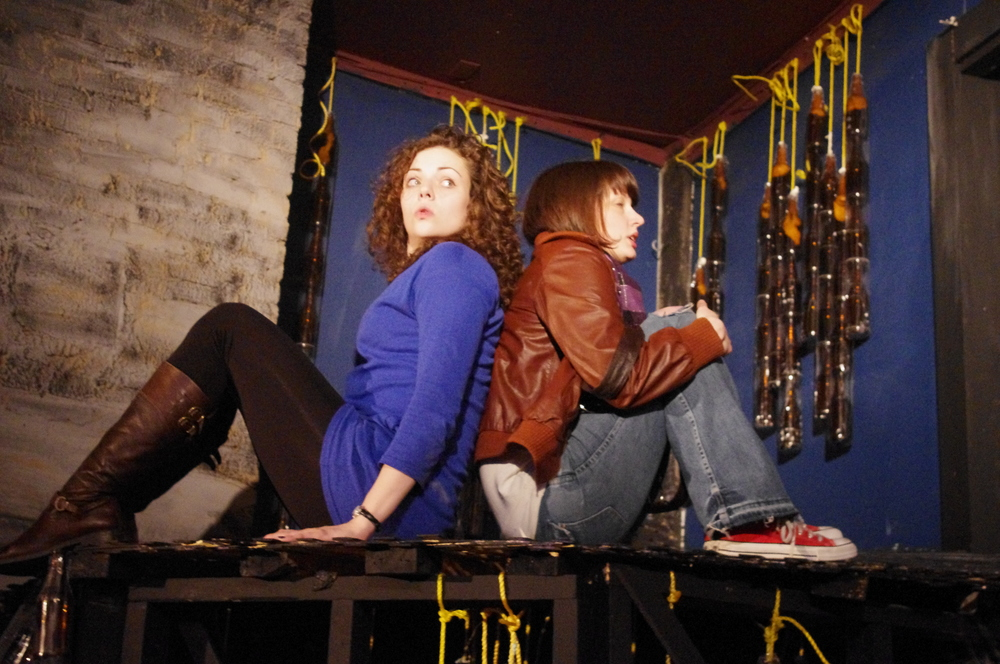 Bridget Wareham as Karen and Natalia Hennelly as Lizzie,  The Battery  2011.