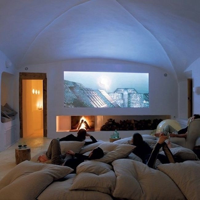 2. A Home Movie Theater: Because Who Would Want Sit In A Crowded Theater  When You Have This?!