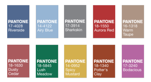 Pantone Fall 2016 Color Report.