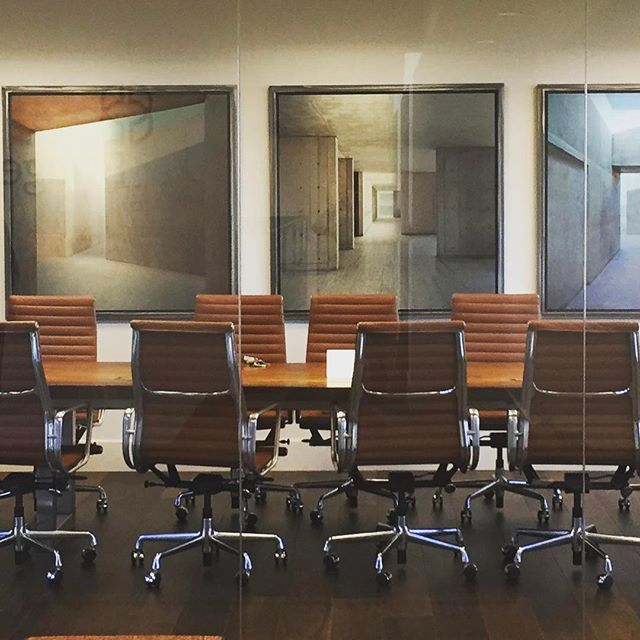 Beautiful photographs installed today in Menlo Park project. Mia Delcasino amazing photographs of Salk Institute and Yael Gmach perfect steel framing.