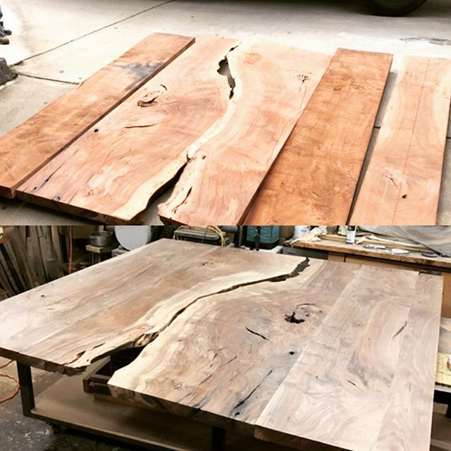 "Table coming together for Corporate Conference room. Next step cut into an 84"" diameter.  Beautiful work by David Alan Studio.  Can't wait to see it in the space.  Thanks Justin."