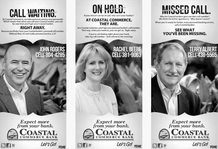 Baton Rouge Marketing Company, Personalized Coastal Commerce Bank Ad Image - Diane Allen and Associates