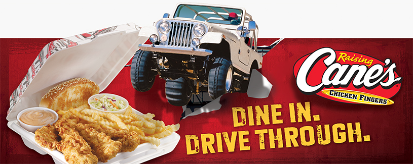 Baton Rouge Advertising Agency, Raising Cane's Dine In Drive Through Image  - Diane Allen and Associates
