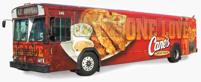 Baton Rouge Marketing Company, Raising Cane's One Love Bus Photo - Diane Allen and Associates