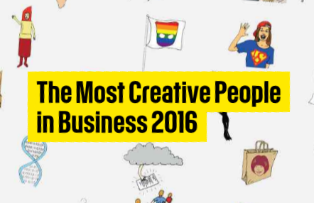 Fast Company's list of The Most Creative People in Business 2016