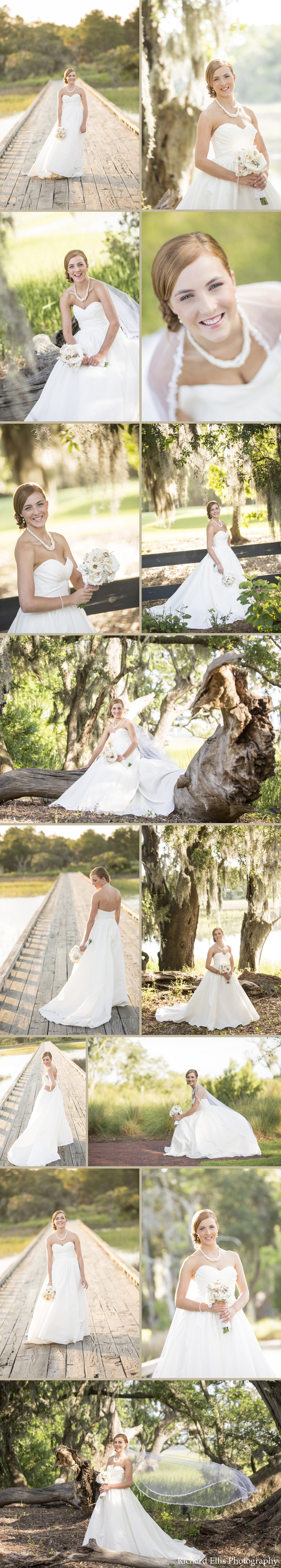 Michelle's bridals photographed by Charleston wedding photographer Richard Ellis Photography