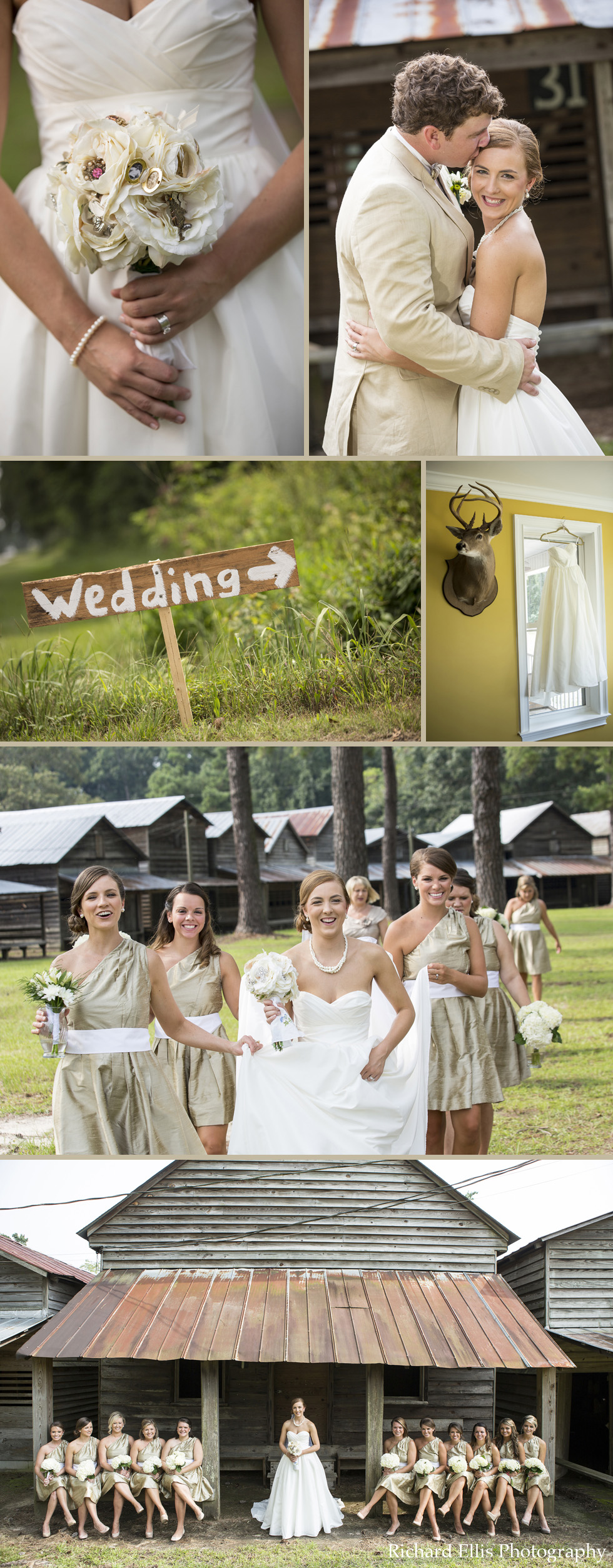 Michelle and Stanley's Wedding at Indian Field Campground photographed by Charleston wedding photographer Richard Ellis Photography