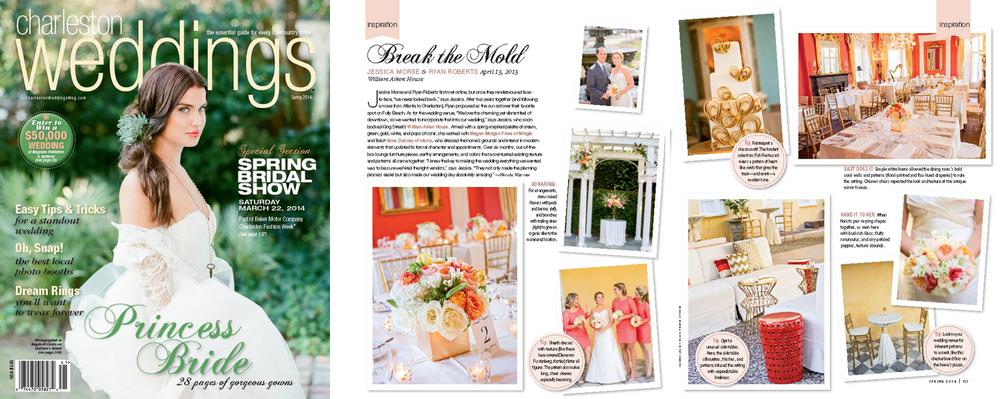 Ellis Photo Studio published in Charleston Weddings Magazine
