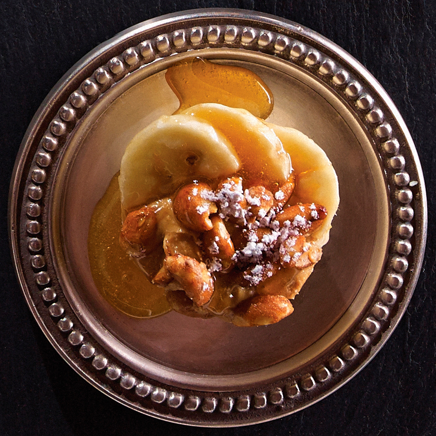 Honey Tarts with Peanut Butter and Banana