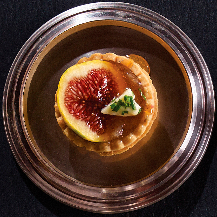 Honey Tarts with Fresh Fig and Brie