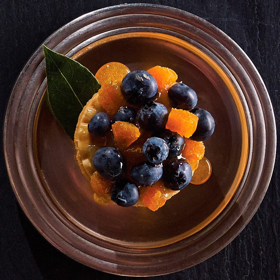 Blueberry Buckle Tarts with Apricot