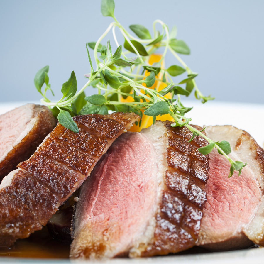Duck with Honey Fig Sauce