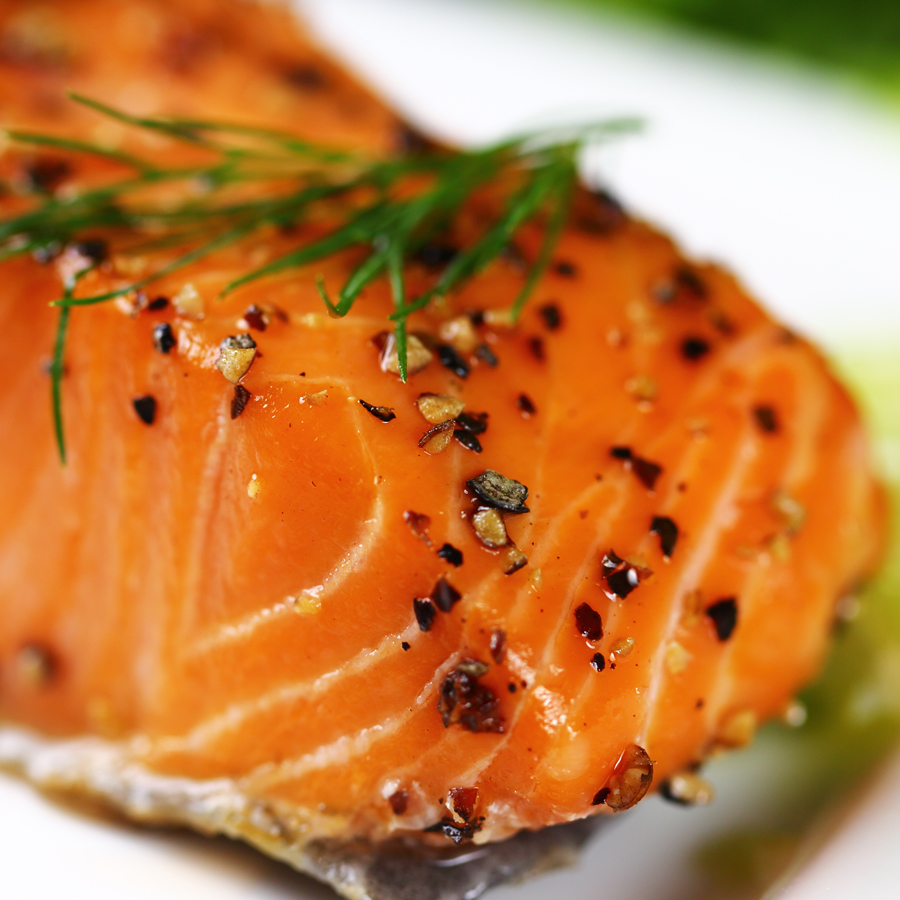 Grilled Salmon with Pineapple Marmalade