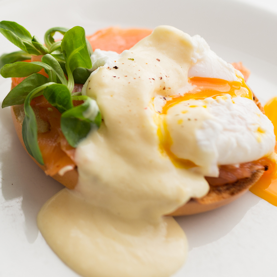 Poached Eggs with Honey Hollandaise