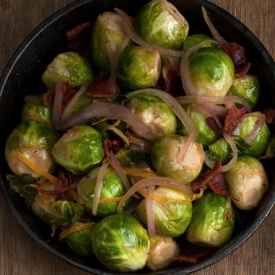 Brussels Sprouts with Honey and Bacon