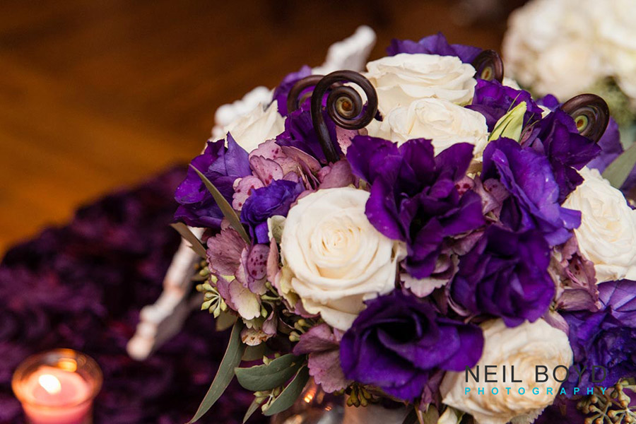 Purple and White Wedding Flowers  | Raleigh Wedding Florist