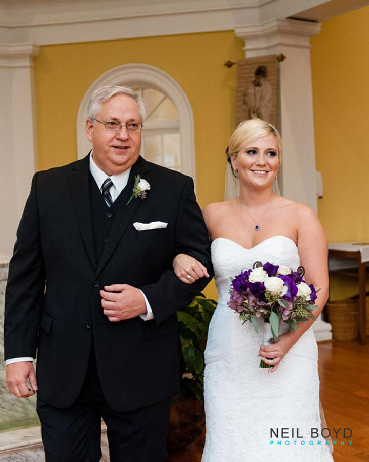 Father of the Bride and the Bride  | Raleigh Wedding Florist