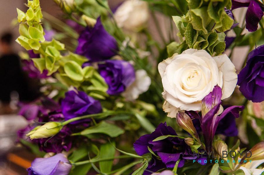 Purple & White Wedding Floral Detail  | Raleigh Wedding Florist