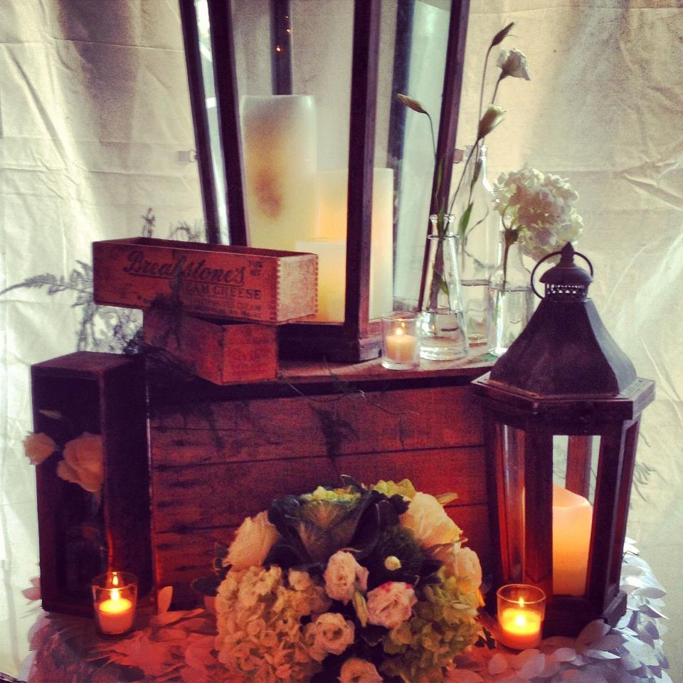 Country Flair Wedding Table Arrangement  | Raleigh Wedding Florist