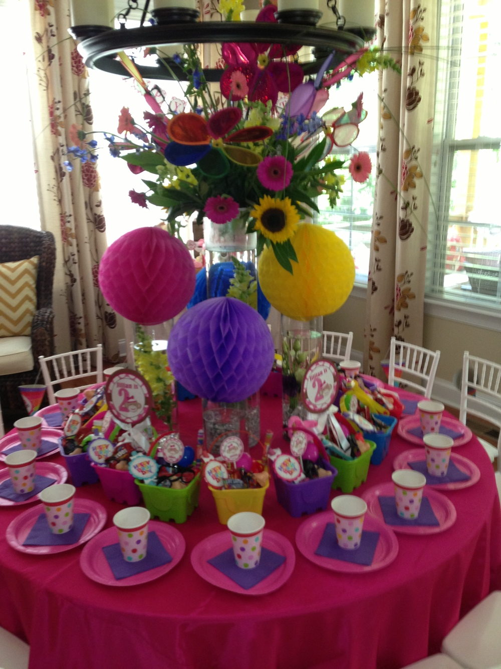 Birthday Party Table  | Raleigh Special Occasion Florist | Flowers by Kyle