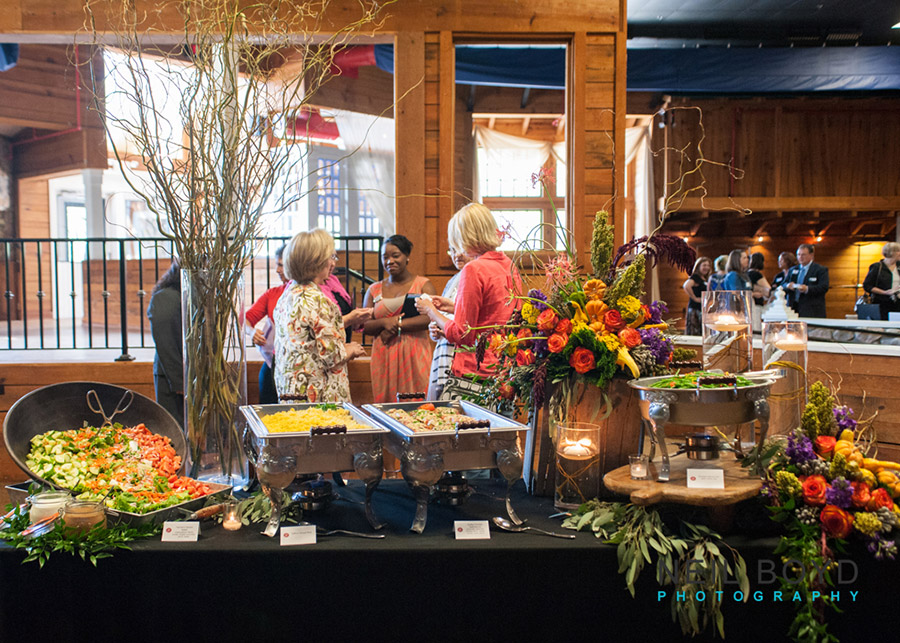 Buffet Setup  | Raleigh Special Occasion Florist | Flowers by Kyle