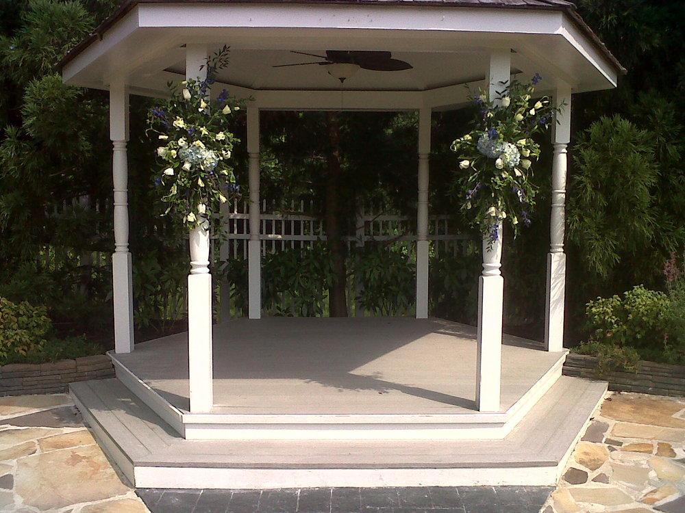 Wedding Gazebo  | Raleigh Wedding Florist | Flowers by Kyle