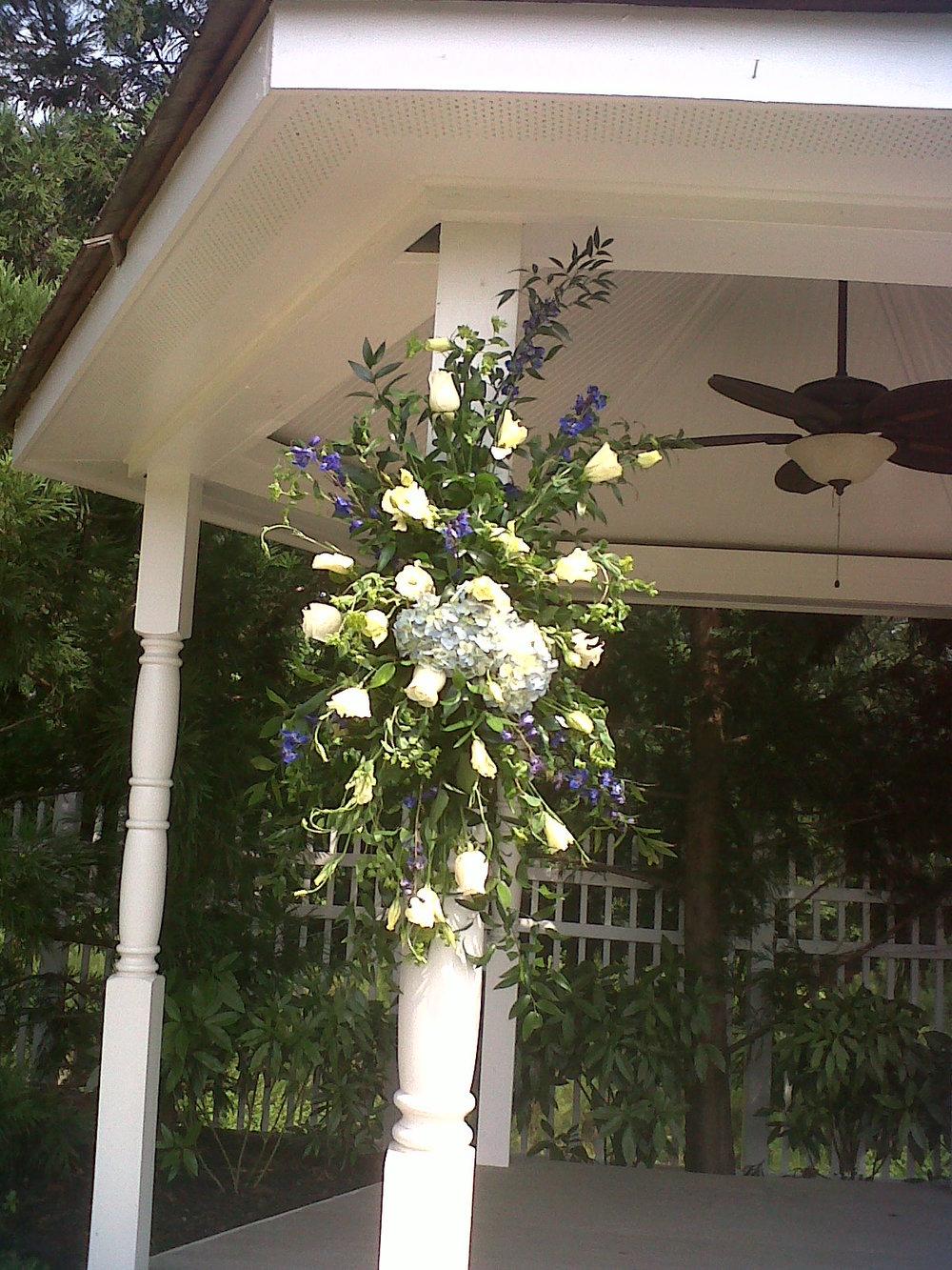 Outdoor Gazebo Wedding Flowers  | Raleigh Wedding Florist | Flowers by Kyle
