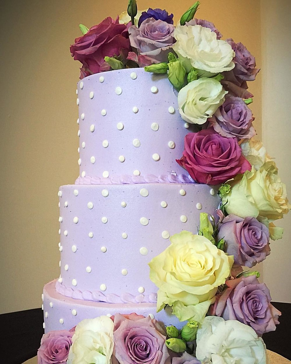 Wedding Cake Flowers  | Raleigh Wedding Florist | Flowers by Kyle