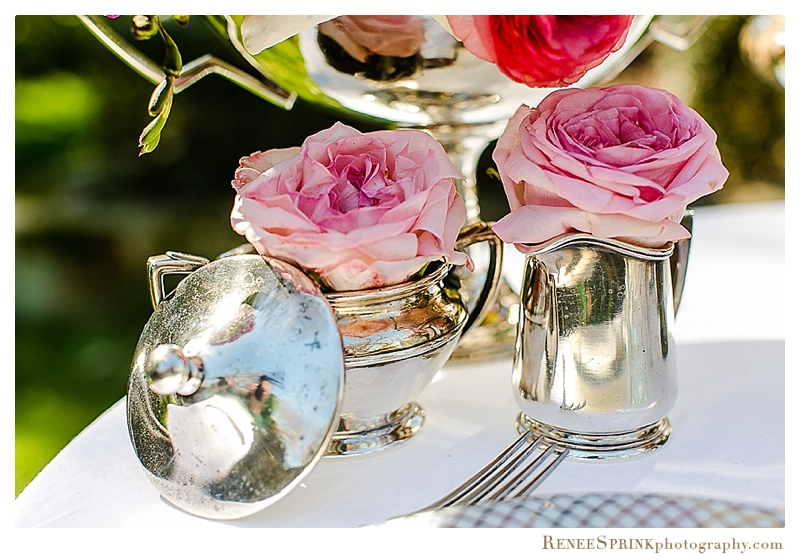 Spring Flowers & Silver in the Garden | Raleigh Special Occasion Florist | Flowers by Kyle