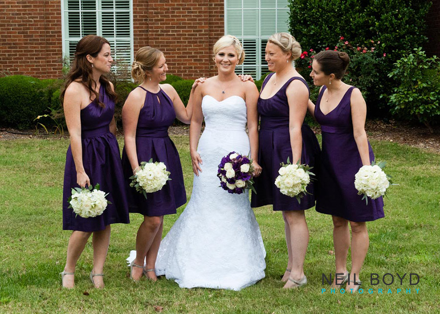 Bride and Bridesmaids   | Raleigh Wedding Florist