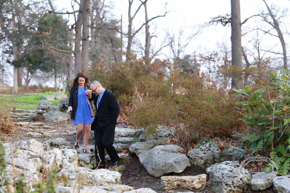 Meghan's dad was the last stop before she was going to see Zach. Such a sweet dad, escorting his daughter down to meet her future husband.